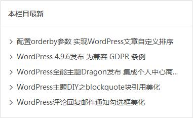 非常实用的WordPress同分类文章列表小工具教程 WordPress 第2张