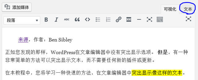 如何在WordPress文章中突出显示文本? WordPress 第1张