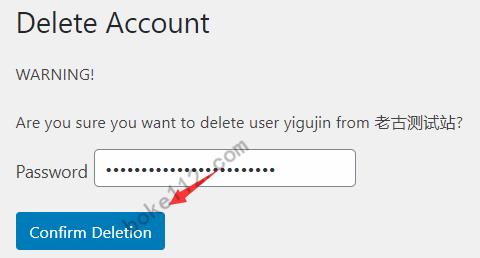 WordPress允许注册用户删除账号的插件Delete Me - 第4张 - boke112联盟(boke112.com)